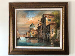 Oil painting of Venice, Italy