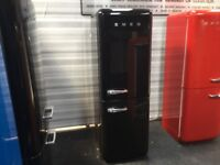 GLOSSY BLACK SMEG FAB32 FRIDGE FREEZER. WITH WARRANTY. CAN DELIVER/VIEW.