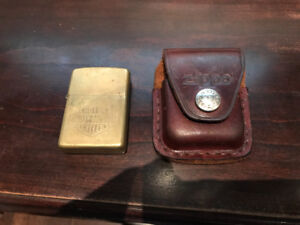 VINTAGE HARLEY DAVIDSON ZIPPO BRASS LIGHTER + ORIGINAL CASE