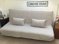 Ikea Beddinge 3 seater sofa bed with cover and cushions