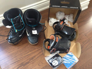 Snowboard boots and bindings
