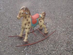 Pressed tin rocking horse