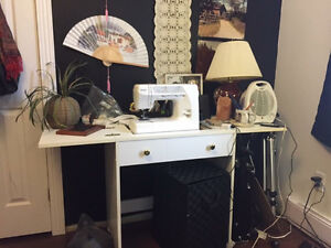 Sewing Machine and Table for Sale