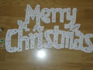 16 Inch Light-up Merry Christmas Sign  for sale