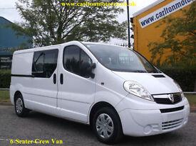 2012-62 Vauxhall Vivaro 2.0CDTi 115 Double/Cab Lwb Low Miles Twin Side Door 2.9t