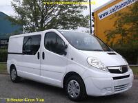 2012/ 62 Vauxhall Vivaro 2.0Cdti D/Cab 6s Lwb Low Mileage Twin Doors 2.9t