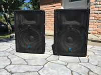 Yorkville YX15P Powered Speakers $275 each or $500 for the pair!