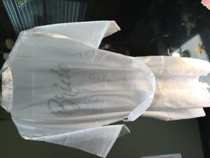 Bride & Maid of Honor satin robes/housecoat - small