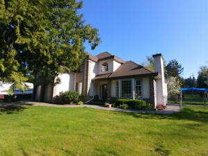 FABULOUS HOUSE WITH ACREAGE IN LANGLEY
