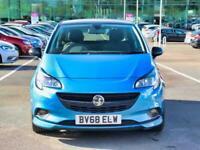 2018 Vauxhall Corsa Vauxhall Corsa 1.4 75 SRi Vx-Line Nav Black 3dr Hatchback Pe