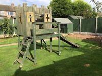 Castle Climbing frame slide outdoor play adventure