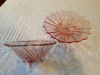 Pink Depression Glass Candy Dishes