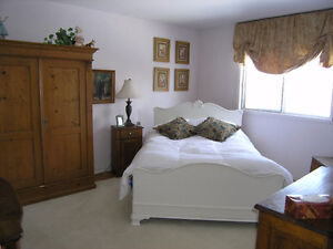Double Antique Bed and Mattress