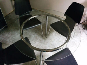 Funky glass table and chairs
