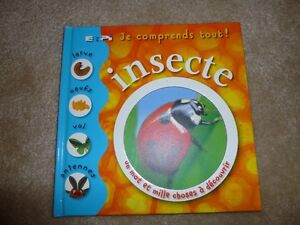 Children's French book about insects, excellent quality