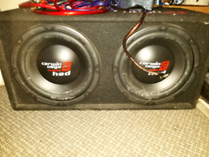 2 - 12inch subwoofers in box