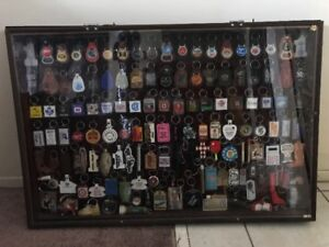 MASSIVE KEY CHAIN COLLECTION (IN SHADOW BOXES)  NEW PRICE