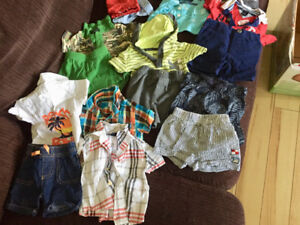 0-3 and 3-6 month baby boy summer lot