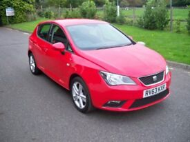 SEAT Ibiza 1.4 16V TOCA 85PS FULL SERVICE HISTORY AIR CON AND ONLY ONE OWNER (red) 2013