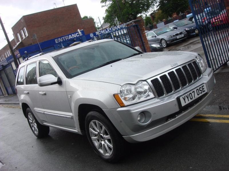 2007 07 plate jeep grand cherokee 3 0crd v6 overland auto. Black Bedroom Furniture Sets. Home Design Ideas