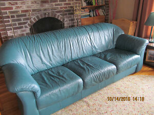 green leather sofa for sale