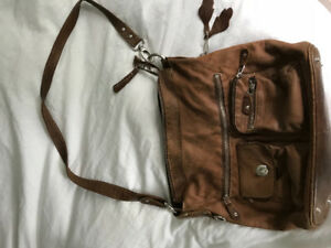 Roots brown soft leather purse