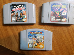 N64 games: WCW, Star Wars, Extreme G