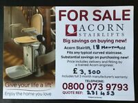 Acorn Curved Stairlift. Almost brand new.