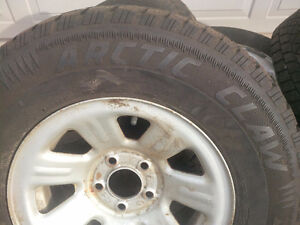 Winter tires with rims off a 2009 Ford Ranger..