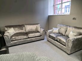 3+2 seater crushed velvet Sofa