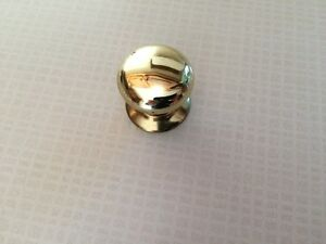 Solid Brass Knobs c/w Backing Plate