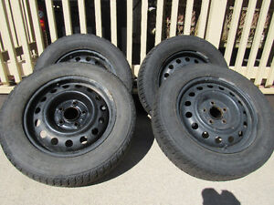 4 Snow tires and steel rims