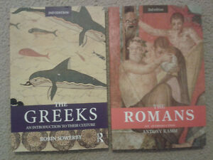 The Greeks, The Romans (2nd Editions)- UWO Textbooks London Ontario image 1