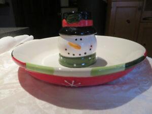 Xmas Frosty serving dish