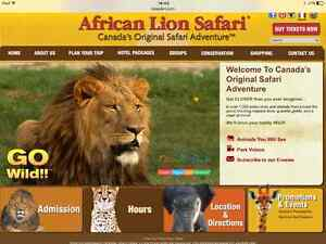 Family day pass to African Lion Safari