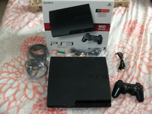 Playstation 3 with box/receipt/10 games/controller