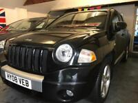 2008 08 Jeep Compass 2.0 CRD 4x4 Limited edition black with black leather
