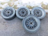 Roues/jantes/pneus, 15 po, 4X100mm, 195/55R15