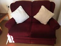 Lovely Red 2 Seater Sofa