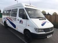 MERCEDES BENZ SPRINTER 412D + LWB HIGH ROOF TWIN WHEELS + (1996 P REG)