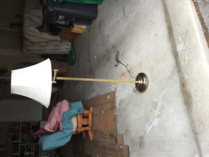 Lamp pole with shade. 60""