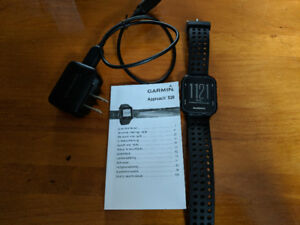 Garmin Approach S20 Golf Watch - lightly used w/manual & charger