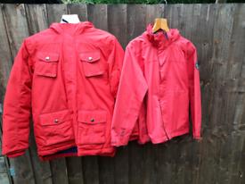 2x - age9-10 coats - Lands End & Tog 24 - waterproof & winter coat