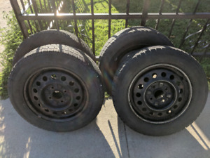 """Winter Tires with rims for sale 15"""""""