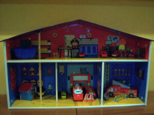 Caserne de pompier et accessoires
