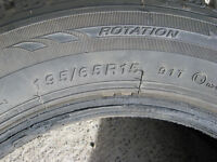 WINTER TIRES P195/65R15 USED FOR 3 MONTHS