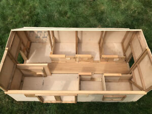 Custom Made Solid Wood Toy Horse Barn with Stalls for Breyer