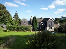 Beautiful 1st floor dual aspect Dble Room, oak floor, own shower wc, large house in country setting.
