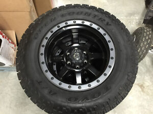 """18"""" Fuel Throphy D-551 rims with Toyo Open Country A/T 285/65r18 Moose Jaw Regina Area image 2"""