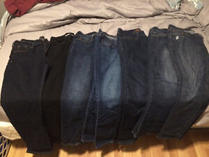 7 pairs of VGUC size 10 jeans